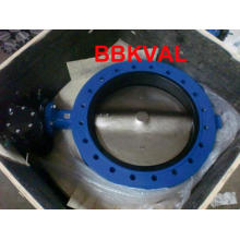 Rubber Lined Double Flange Butterfly Valve