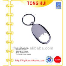 Chaveiros de abridor de garrafas de liga de zinco para qualquer logótipo personalizado