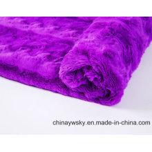 Tecido de lã PV para brinquedo / vestuário