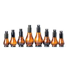 Stocked 10ml 20ml 30ml 50ml 100ml gourd amber perfume alcohol glass spray bottle