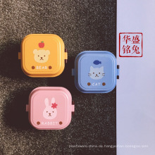 Großhandel japanische Quadrat gedruckt Kunststoff Bento Kinder Brotdose