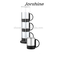 taza de café inoxidable de nuevo diseño conjunto KT002