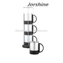 Новый дизайн нержавеющей кофе Кубок набор KT002