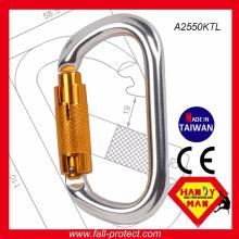2017 о форме замка закрутки алюминия восхождение карабин Сделано в Тайване