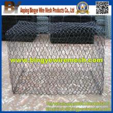 Caja de Gabion / cesta de Gabion (galvanized y PVC cotaed)