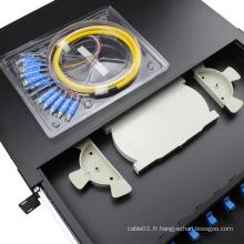 Filtre à glissière noir type 12 panneau de connexion à fibre optique