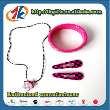 Wholesale Girls Plastic Necklace and Bracelet Set Toy for Kids