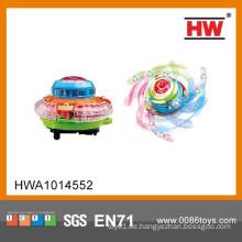 Heißer Verkaufs-elektrisches leuchtet spinnende Oberseite (blau, orange, grün gemischt, Batterie nicht eingeschlossen)