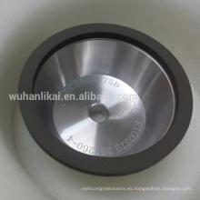 anillo de resina Rueda de diamante en forma de cuenco