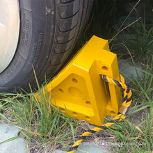 High Quality Solid Heavy Duty Wedge Rubber Wheel Chock with Handle for Trailer/Car/Truck