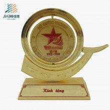Ouro por atacado do metal da lembrança da fonte feita sob encomenda por atacado comemora o troféu