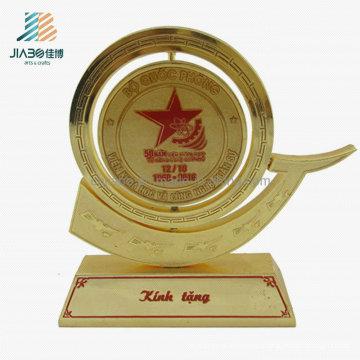 Custom Supply Wholesale Souvenir Metal Gold Commemorate Trophy