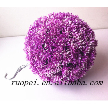 Yiwu beautiful mini artificial purple ball potted bonsai with happy price
