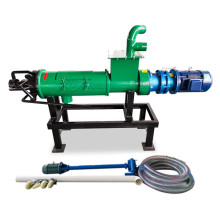 cow manure solid liquid separator with agitator mixer/animal manure dewatering machine/poultry dung separating machine