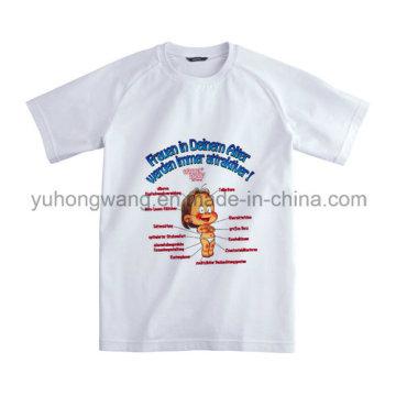 T-shirt imprimé personnalisé en coton coton