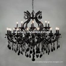 Black Vintage Wedding Pendant Chandelier Light Table Centerpieces