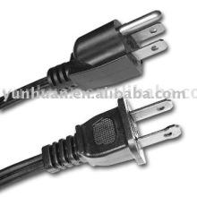 U.S. tipo cable con un enchufe de UL/certificado por CSA