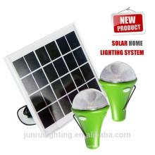 Chaud CE rechargeable solaire dirigée par un éclairage de secours camping ampoules LED