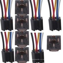 Автомобиля 12V 12 Вольт постоянного тока 80А усилитель прозрачный реле и гнездо spdt с кабель 5pin 5 провода