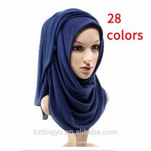 Bequeme Gefühl Baumwolle Schal Großhandel Plain Cotton Jersey Hijab für Frauen