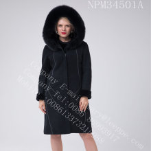 Australien Merino Shearling Coat Bright Faden Dekoration