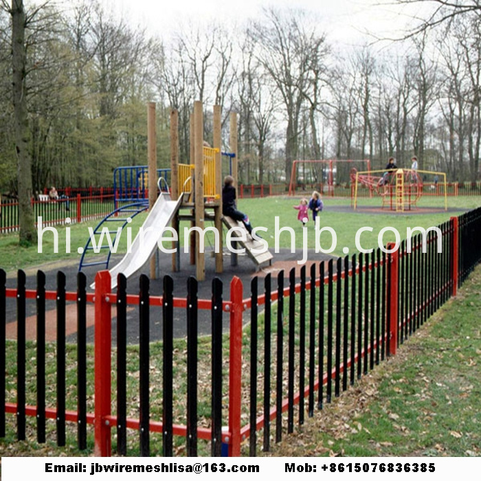 Powder Coated Steel Palisade Fence