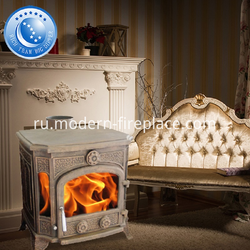 Cast Iron Indoor Wood Stove Fireplace
