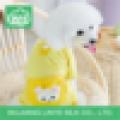 Blue Stripe Dog Clothes , Cute Monkey Upholstery Pet Clothing