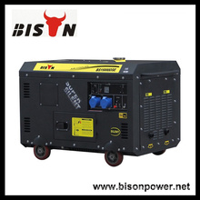 Bison China Zhejiang High Quality Reliable OEM Super Silent 10KW 10KVA 10000 Watt Diesel Generator Set 15kv