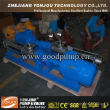 Pompe à vis de ciment / pompe à vis unique / pompe à vis mono (fonte, acier inoxydable 304, 316, 316L)