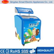 Mini congelador de pantalla para helado 150L con Ce