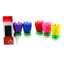 Indien Rotate Flower Musica Candle