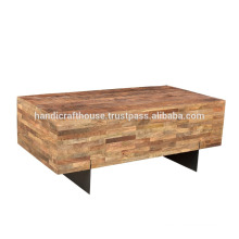 Industrial Wide Wood and Metal Legs TV Stand