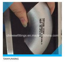 Raccords de tuyaux transparents de 90 degrés Coude en tuyau en acier inoxydable
