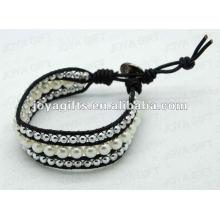 Amitié Pearl Round Beads Wrap Bracelets