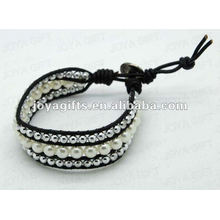 Friendship Pearl Round Beads Wrap Bracelets