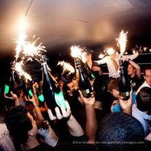 Fuente de pastel de hielo Fiesta de cumpleaños Velas Champagne Botella de bengalas para fiesta Fuegos artificiales