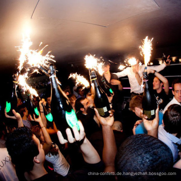 Eis Kuchen Brunnen Geburtstag Party Kerzen Champagner Flasche Wunderkerzen für Party Feuerwerk