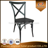 Cross back dining iron chair x back iron chair