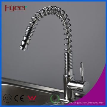 Nickel gebürstet herausziehen Küchenspüle Wasserhahn (QH0781S)