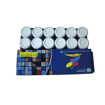 12 Colors Glass Paint Set