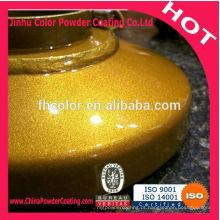 Revestimento de pó de cromo ouro com super proteção