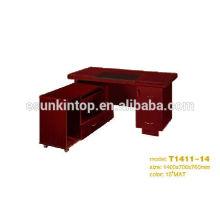 Escritorios de oficina de ejecutivos personalizados de tamaño, muebles de oficina de papel conjuntos de diseño (T1411-14)