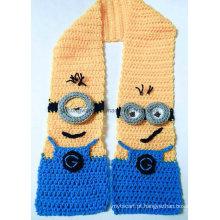 Personalizado feito à mão acrílico malha crochet cachecóis, cachecol