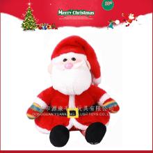 La fábrica al por mayor 2016 nuevos ornamentos de la Navidad del regalo Papá Noel rellenó el juguete