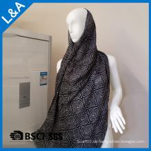 Männer Schwarz-Weiß-Rayon-Schals