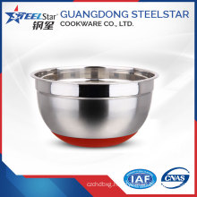 Manufactured stainless steel disposable salad bowl with SS201 material