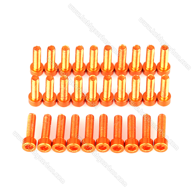 M3 Anodised Socket Aluminum Screws