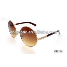 Belo design redondo óculos de sol de metal atacado Alibaba