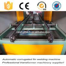 Máquina de solda de costura de aleta de tanque exterior do transformador